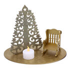Glittered+Christmas+in+Heaven+Rocking+Chair+Set+with+LED+Tea+Light+-+Gold