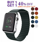 Apple Watch Magnetic Leather Loop Band fit Series 5 4 3 2 1 42mm 38mm 44mm 40mm image