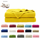 Soft Warm Cotton Cable Knit Throw Blanket for Couch Sofa Chair Home Decorative image