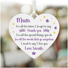 MUM I Love You PERSONALISED Christmas Plaque Gifts for Mummy Nanny Mum Nanna Her