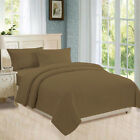 Flat, Fitted Sheet, Duvet Cover, Pillowcases 800 TC 100% Cotton Taupe Stripe image