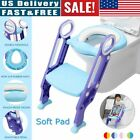 Potty Trainer Toilet Seat Chair Kids Toddler With Ladder Step Up Training Stool image