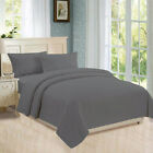 Flat, Fitted, Button Closure Duvet Cover, Pillowcases 800 TC Dark Grey Stripe image