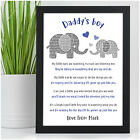 PERSONALISED Daddy and Son Daughter Christmas Gifts from Daddys Little Boy Girl