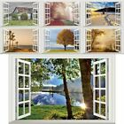 3d Fake Window Wall Stickers Country Seaside Scenery Living Room Decor~ Mbyss