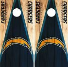 Los Angeles Chargers Cornhole Skin Wrap NFL Wood Decal Vinyl Board Logo DR621 $39.99 USD on eBay