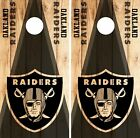 Oakland Raiders Cornhole Skin Wrap NFL Wood Decal Vinyl Board Logo Art DR629 $39.99 USD on eBay