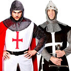 Knight Mens Fancy Dress Fairy Tale Medieval Book Day St Georges Adults Costumes