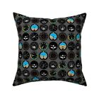 Aviation Nursery Decor Flying Throw Pillow Cover w Optional Insert by Roostery