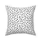 Animal Dots Dog Polka Black And Throw Pillow Cover w Optional Insert by Roostery