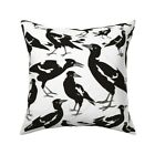 Bird Animal Black And White Throw Pillow Cover w Optional Insert by Roostery