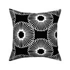 Flower Black White Modern Home Throw Pillow Cover w Optional Insert by Roostery