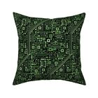 Short Circuits Robot Geeky Throw Pillow Cover w Optional Insert by Roostery