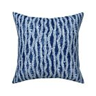 Wavy Striped Shibori Abstract Throw Pillow Cover w Optional Insert by Roostery