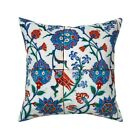 Turkish Tile Renaissance Throw Pillow Cover w Optional Insert by Roostery