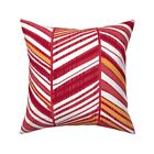 Herringbone Hue Arrow Doodle Throw Pillow Cover w Optional Insert by Roostery