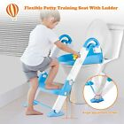 Kids Trainer Step With Training Potty Toddler Seat Stool Chair Up Ladder Toilet image