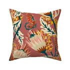 Floral Nature Botanical Throw Pillow Cover w Optional Insert by Roostery