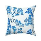 Toile Rococo Traditional Chintz Throw Pillow Cover w Optional Insert by Roostery