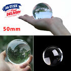 50mm Crystal Ball For Photography Clear Glass  Props Sphere Home Decoration