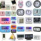 LCD Digital Clocks Battery Operated Snooze Electronic Alarm With Calendar Time