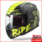 CASCO INTEGRALE FULL FACE LS2 RAPID FF353 NAUGHTY MATT BLACK H-V YELLOW GIALLO F