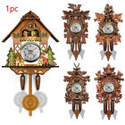 Cuckoo Bird Sound Wooden Cuckoo Wall Clock Forest Design Hanging Pendulum