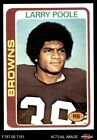 1978 Topps #184 Larry Poole Browns-FB Kent St 8 - NM/MT $2.15 USD on eBay
