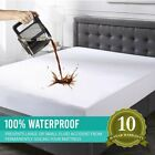 Mattress Cover Fitted Bed Protector Pad Topper Twin Full Queen King Waterproof image