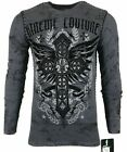 Xtreme Couture by AFFLICTION Men THERMAL T-Shirt STATUS UNKNOWN Biker MMA Gym$58 image