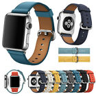 for Apple Watch Series 5 4 3 2 1 Leather Band Bracelet Strap 38mm/40mm/42mm/44mm image