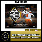 2019 PANINI LIMITED FOOTBALL 14 BOX (FULL CASE) BREAK #F377 - PICK YOUR TEAM $26.0 CAD on eBay