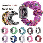 Band Bracelet Printed Fabric Strap Scrunchie Elastic For Apple Watch 5 4 3 2 1** image