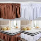15In Drop Bed Dust Ruffle Skirt Twin Full Queen King Size Elastic Wrap Around US image