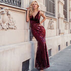 Ever-Pretty US Deep V-neck Long Evening Dress Mermaid Cocktail Holiday Prom Gown