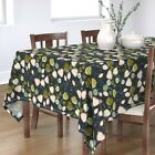 Tablecloth Floral Pink And Mint Mod Flower Abstract G256 Retro Cotton Sateen