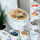 Toilet Seat Sticker Art Wc Cover Removable Bathroom Decals Useful Home Decor