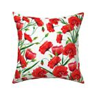 Vintage Floral Botanical Throw Pillow Cover w Optional Insert by Roostery