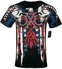 XTREME COUTURE by AFFLICTION Men T-Shirt COUTURE PATRIOT Tatto Biker MMA S-4X$40 image