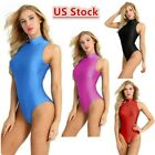 Kyпить US_ Women Adult One-piece Swimsuits Stretch Dance Leotard Bodysuit Bathing Suits на еВаy.соm