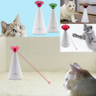 Electric Rotating Laser Pointer Chaser Fun Play Toy For Pet Cat Adjustable Speed