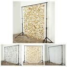 6 ft x 6 ft Flower Garland Backdrop Curtain For Wedding Decoration - 3 colors $8.99 USD on eBay