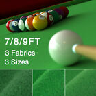 7/8/9/FT Worsted Pool Table Cloth Billiard Felt Mat Cover Fast Pre-Cut Rails $76.98 USD on eBay