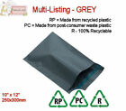 GREY RECYCLED Mailing Postal Packaging Bags 10