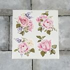 4 X Watercolour Rose Stickers - Decals - Transfers - Self Adhesive Vinyl