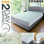 Bamboo Mattress Protector Breathable Comfortable Deep Pocket Topper Cover Pad image