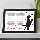 Personalised Anniversary Poem Gifts for Couples Her Him Girlfriend Wife Husband
