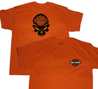 Harley Davidson Orange and Black Mens T-shirt FreeShipping! USA $18.99 USD on eBay