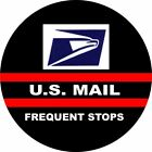 US Mail Frequent Stops Tire Cover on Black Vinyl