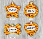 FRENCH FRIES #2 PET TAG ID CUSTOM PERSONALIZED 2 SIDES -fds2X
